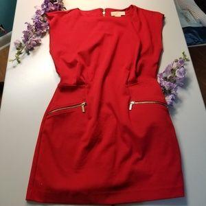 Michel Kors red mini dress